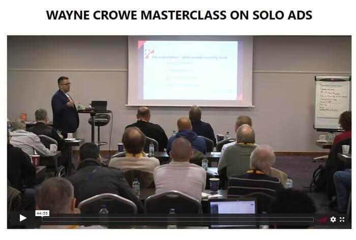 Wayne Crowe the best Solo ads Vendor