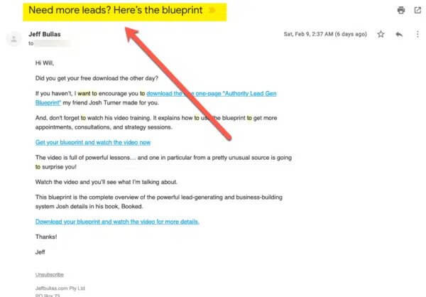 solo ad email subject line and ad copy