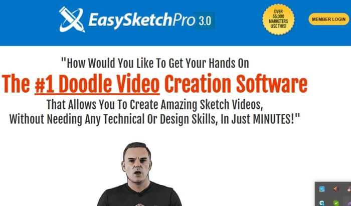 (EasySketchPro) the best Doodle Video Maker Tools